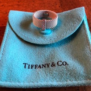 Authentic Tiffany & Co. Somerset Diamond Mesh Ring